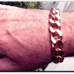 Men's  Solid Copper Bracelet CB639G - 8 to 10 inch